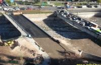 Puente Costanera Center sobre rio Mapocho